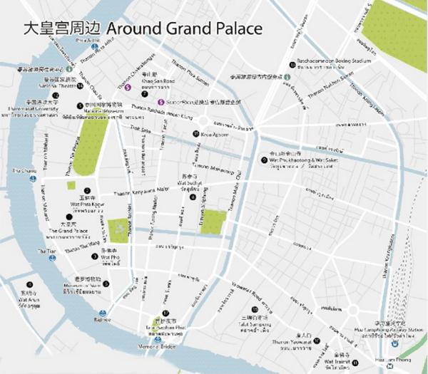 曼谷旅游攻略下载:曼谷中文地图+旅游线路+高清地图+地铁线路图(2017)