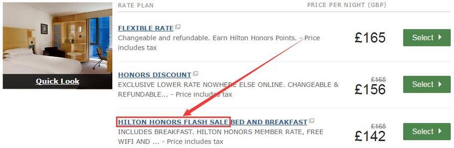 Hilton希尔顿优惠活动:希尔顿亚太区、欧洲、英国、美洲、中东限时快闪促销,低至65折(2017/3/27前)