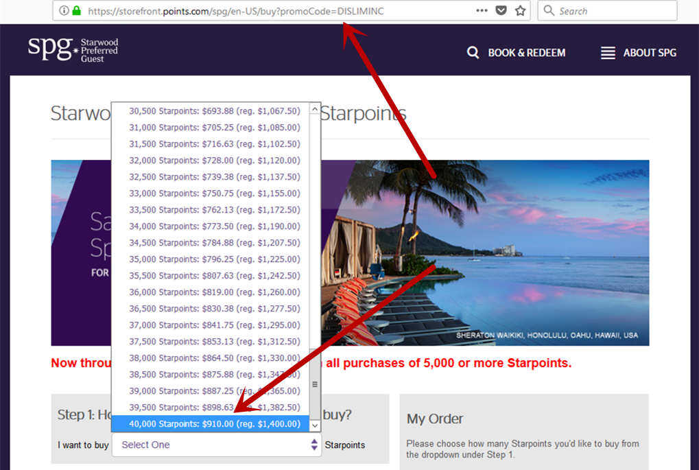 starwood-spg-buy-points-webpage-error-and-increase-limit-to-40k-2