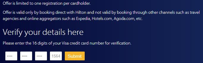 Hilton希尔顿金卡挑战:VISA信用卡用户2次入住或入住4晚即可快速升级金卡