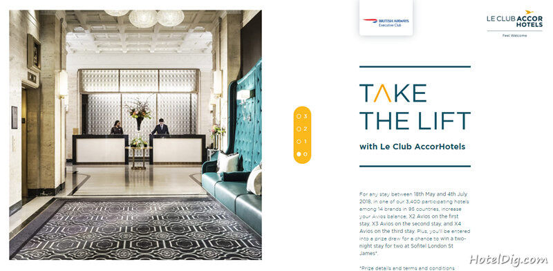 Accorhotels雅高里程活动:入住雅高酒店可享最多4倍英航Avios里程奖励(2018/7/4前)