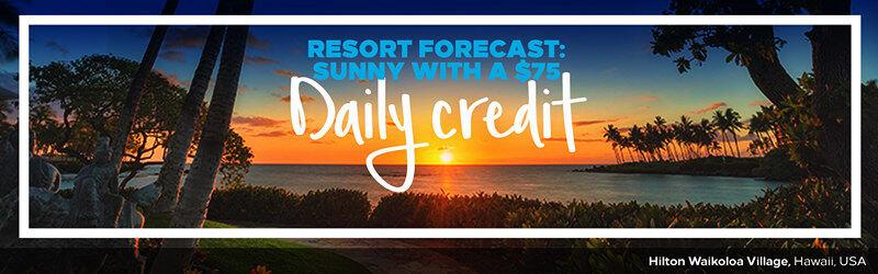 Hilton希尔顿优惠活动:入住美洲地区指定Resort酒店可获每天美元餐饮消费券(2019-1-31前)