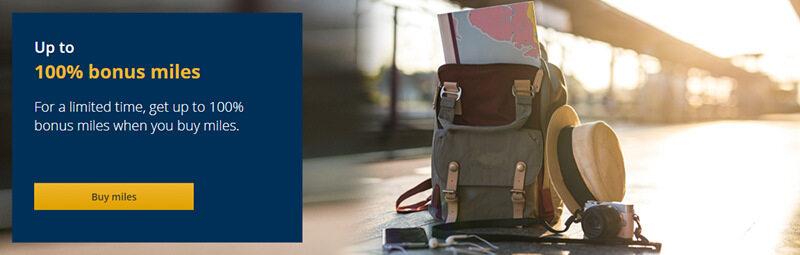 美联航里程促销:购买UA里程(MileagePlus)享100%奖励优惠,即买一送一(2018-9-6前)