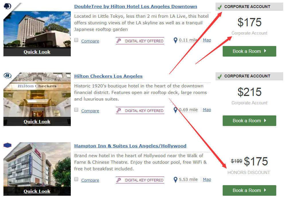 """Hilton希尔顿攻略:希尔顿协议价8折优惠码""""MVP"""",指定入住美洲地区酒店(美国和加拿大等)"""