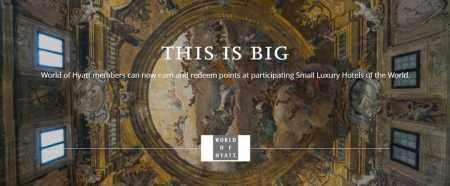 凯悦和Small Luxury Hotels(SLH)合作,Hyatt积分可以兑换SLH酒店,还能累积SNP