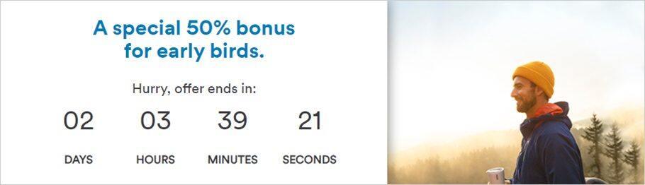 阿拉斯加航空里程促销:通过官网购买Mileage Plan里程享额外最高50%奖励(2019-9-15前)
