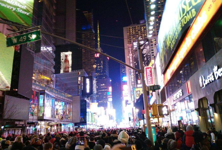 纽约时代广场跨年全攻略,IHG积分超值兑换纽约时代广场皇冠假日酒店