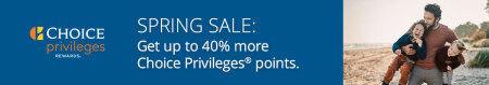 Choice官网卖分促销:购买积分享额外40%奖励,积分兑换成本低至每晚$42美元(2020-4-28前)