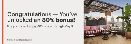 IHG賣分促銷:通過官網購買優悅會(IHG Rewards)積分享額外最多80%獎勵(2021-5-4前)